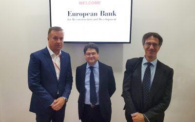 Der Vizepräsident von EBRD in Besuch bei Transfera