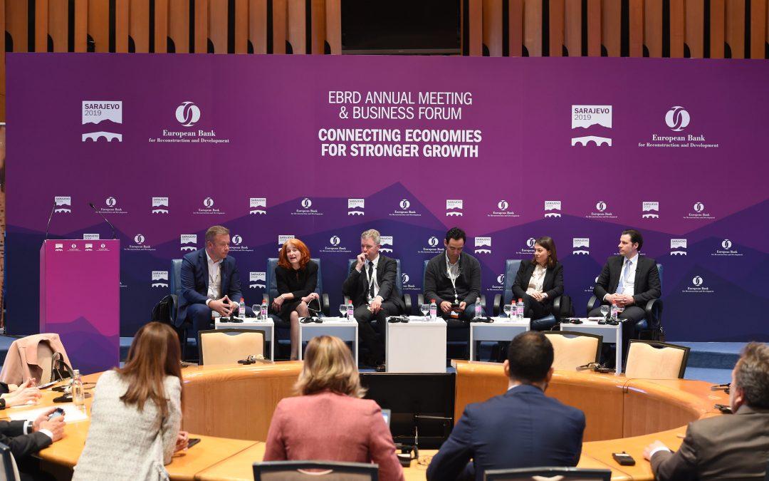 Transfera auf der Jahrestagung und dem Business Forum EBRD 2019