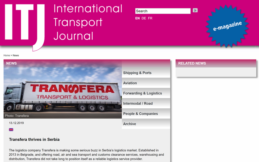 Formato europeo del successo – International Transport Journal sull' ascesa della Transfera