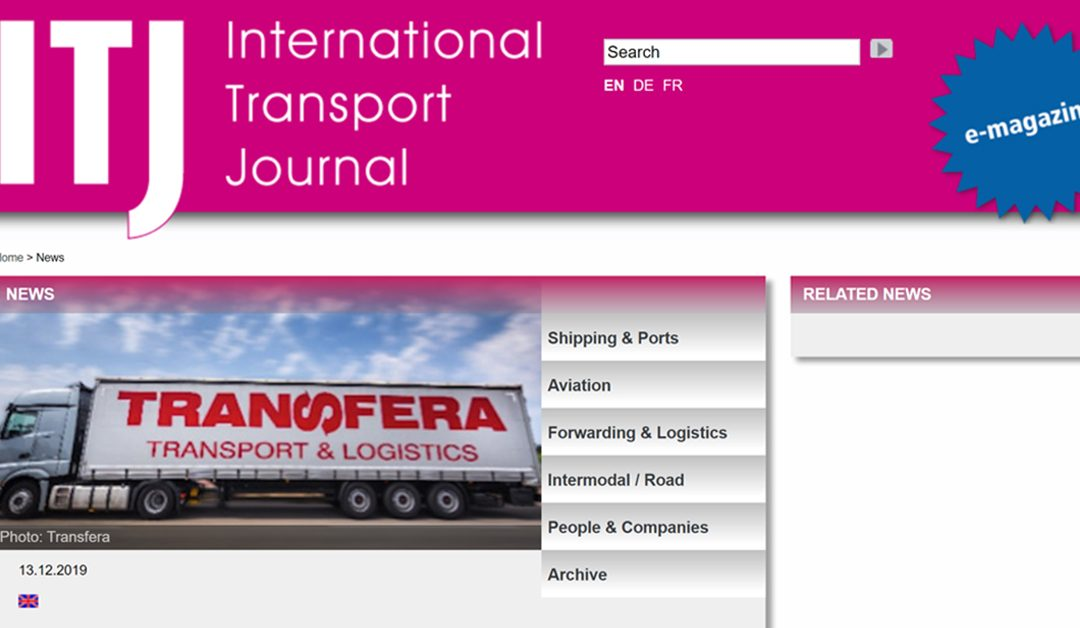 Evropski format uspeha – International Transport Journal o usponu Transfere